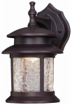 Westinghouse Lighting 64003 LED Wall Lantern, Outdoor, Oil-Rubbed Bronze With Crackled Glass, 9-Watt.