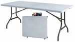 Wok & Pan Indoor Limited-Import TBL-072W Folding Banquet Table, Lightweight, 30 x 72-In.