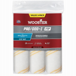 Wooster Brush RR663-9 Paint Roller Covers, FTP 3/8-In., 3-Pk.