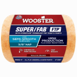 Wooster Brush RR923-4 Paint Roller Cover, Super Fab, Shed Resistant, 4-In. x 3/8-In.