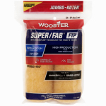 Wooster Brush RR942-4 1/2 Paint Roller Cover, 2-Pack, Jumbo-Koter, Super Fab, FTP, 4-In. x .5-In.