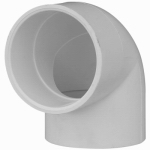Genova Products 30705 PVC Pressure Pipe Fitting, Elbow, 90-Degree, White PVC, 1/2-In.