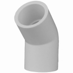 Genova Products 30607 PVC Pressure Pipe Fitting, Elbow, 45-Degree, White PVC, 3/4-In.