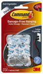 3M 17303CLR Cord Organizers With Adhesive Strips, Clear, Large, 2 Clips/3 Strips