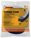 Thermwell R734H Rubber Foam Weatherseal Tape, 3/4W x 7/16-In. T x 10-Ft.