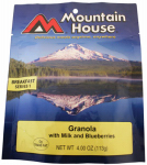 Big Rock Sports 53449 Freeze-Dried Granola With Blueberries And Milk, 4-oz.