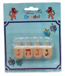 Israel Giftware Designs DR-25 Chanukah Dreidles, Wooden, 1.5-In., 4-Pk.