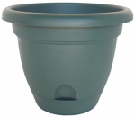 Bloem LP1652 Lucca Self-Watering Planter, Dark Green, 16-In.