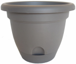 Bloem LP1660 Lucca Self-Watering Planter, Peppercorn, 16-In.