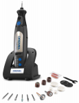 Dremel Mfg 8050-N/18 Max Cordless Rotary Tool Kit, Variable Speed Motor, 8-Volt Lithium-Ion Battery