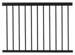 Gilpin Ironworks 619031B Railing, Black Aluminum, 4-Ft.