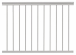 Gilpin Ironworks 619031W Railing, White Aluminum, 4-Ft.
