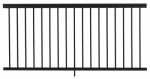 Gilpin Ironworks 619051B Railing, Black Aluminum, 6-Ft.