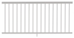 Gilpin Ironworks 619051W Railing, White Aluminum, 6-Ft.