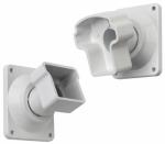Gilpin Ironworks 629064W Railing Bracket, Angled, White Aluminum