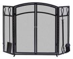Panacea Products 15138 Fireplace Screen With Tools