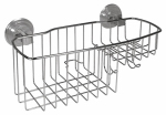 Interdesign 41720 Reo Power Lock Shower Basket, Stainless Steel