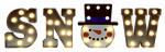 Mr Christmas 60322 Christmas Decoration, Illuminated Snow Marquee, Plastic, Indoor/Outdoor, 9-In.