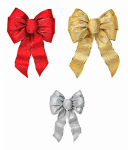 Holiday Trim 6166 XMAS Glit Wired Bow