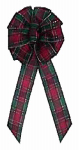 Holiday Trim 6229 Scotch Plaid Wired Bow