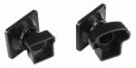 Gilpin Ironworks 629064B Railing Bracket, Angled, Black Aluminum