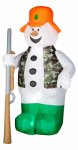 Gemmy Industries 86231 Christmas Decoration, Lighted Inflatable Hunting Snowman, 6-Ft.