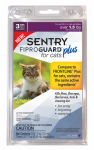 Sergeants Pet Care Prod 03164 Fiproguard Plus Flea & Tick Squeeze On, For Cats, 3-Pk.