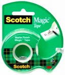 3M 104 Magic Transparent Tape, 1/2 x 450-Inch
