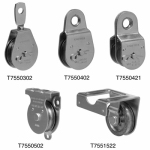 Apex Tools Group T7550304 Swivel Eye Pulley, Single Sheave, Steel, 3-In.
