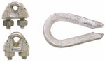Apex Tools Group B7675129 ROPE CLIP,MAL(2) & THIMBLE (1),1/4,BAG