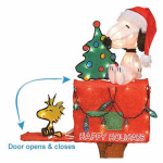 Product Works 70327 Christmas Animated & Lighted Snoopy + Woodstock, 3D, 32-In.
