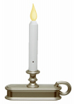 Xodus Innovations FPC1225P Christmas LED Candle, Battery-Operated, Pewter