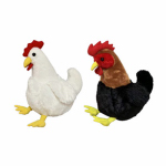 "Hugfun Intl Hongkong 186355-357 12"" Plush Chicken"