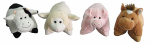 "Hugfun Intl Hongkong 207162-165 13"" Farm Animal Pillow"
