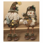 Gerson 2215940TV Holiday Shelf Sitter Decoration, Assorted, 14.5-In.