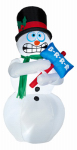 Gemmy Industries 86235 Christmas Decoration, Lighted Inflatable Shivering Snowman, 6-Ft.
