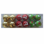 Christmas By Krebs TV510015A 4PK Decorated Ornament