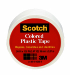 3M 190WHT 3/4x125 White Plastic Tape - 6 Pack