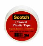 3M 190WT 3/4 x 125-Inch White Plastic Tape