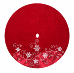 Dyno Seasonal Solutions 2564793-4CC Christmas Tree Skirt, Red Velvet & Satin, 56-In.