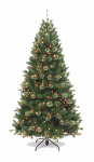 National Tree Co-Import AT7-321P-75 Artificial Pre-Lit Christmas Tree, Atlanta Spruce, 500 Clear Lights, Hinged, 7.5-Ft.