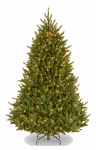 National Tree Co-Import NAFFMH7-75LO Artificial Pre-Lit Christmas Tree, Fraser Fir, 750 Clear Lights, Hinged, 7.5-Ft.