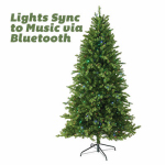 National Tree Co-Import TPES3-D07T-75M Feel Real Artificial Pre-Lit Christmas Tree, Bluetooth Enabled, 550 LED Lights, Hinged, 7.5-Ft.