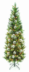 National Tree Co-Import TWP3-304-70 Artificial Pre-Lit Christmas Tree, Slim Wintry Pine, 300 Clear Lights, Hinged, 7-Ft.