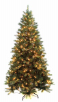 Equinox 2 BRP-11Q1-75 Artificial Pre-Lit Christmas Tree, Beringer Pine, 500 Clear Lights, 7.5-Ft.
