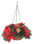 Equinox 2 HPT-HBRP16-12 LED-Light Hanging Poinsettia Basket, Battery-Operated, 24-In.