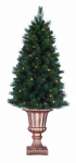 General Foam Plastics TS-RAF145231 Artificial Pre-Lit Christmas Tree, Potted, Indoor/Outdoor, 5-Ft.