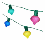 Noma/Inliten-Import V20357-88 String Light Set, Multi, Onion-Shape, 10-Light
