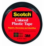 3M 190BK Plastic Tape, Black, 0.75 x 125-In.