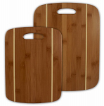 Totally Bamboo 20-2036 Cutting Board Set, Striped Bamboo, 2-Pc.